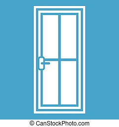 Glass door icon white