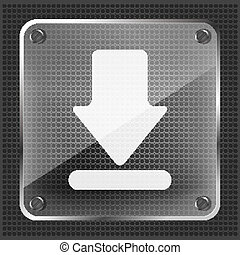 glass download icon
