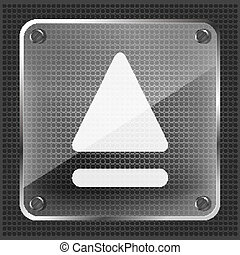 glass eject icon