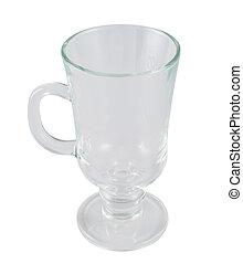 Glass empty tea cup