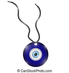 Glass Evil Eye Symbol. Turkish Traditional Amulet. Nazar Protection Talisman. Blue Magic Souvenir