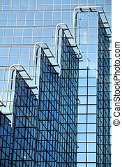 glass facade detail of modern building
