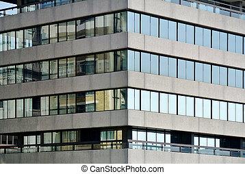 glass facade detail of modern building