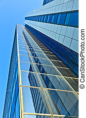glass facade of Modern skyscraper