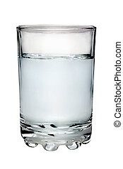glass filled with water isolated on white background