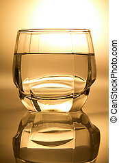 Glass filled with water