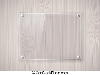 glass frame on a wooden surface