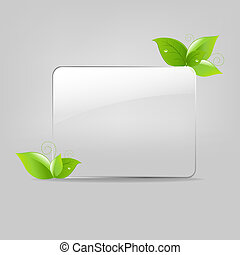 Glass Frame With Leafs