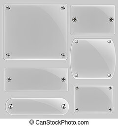 Glass Framework Set, Vector Illustration