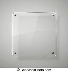 Glass framework. Vector illustration. Eps10