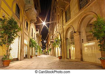 Glass gallery - Galleria Vittorio Emanuele in Milan of Italy
