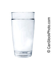 glass - Glass filled with water isolated on white background...