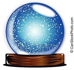 Glass Globe Smow Storm