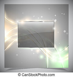 Glass Glossy Frame. Abstract Background