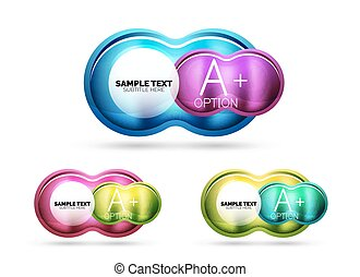 Glass glossy shiny circle round shape, matte realistic...