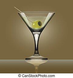 Glass Goblet For Martini Vermouth Cocktails - Transparent...