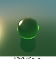 glass green ball