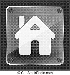 glass home button icon