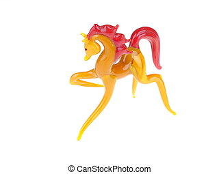 Glass horse on a white background