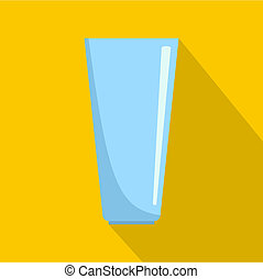 Glass icon, flat style