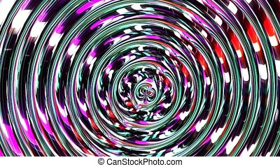 Glass illusion movement. Cyberspace wormhole sci fi space...