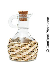 glass jar and cork