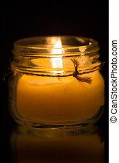 Glass Jar Candle #6