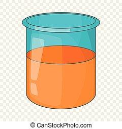 Glass jar icon, cartoon style