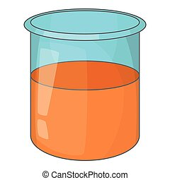 Glass jar icon, cartoon style