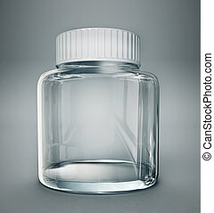 jar - glass jar isolated on a grey background