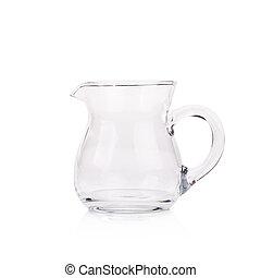Glass jar isolated on white background.