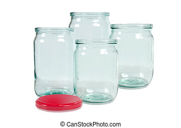 Glass jar isolated on white