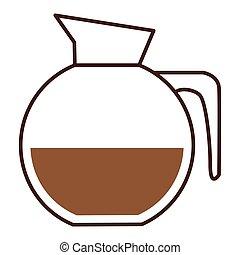 glass jar of coffee with handle