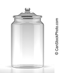 Glass jar isolated on a white background