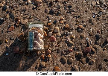 glass jar with money