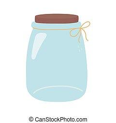 glass jar with ribbon decoration ornament icon