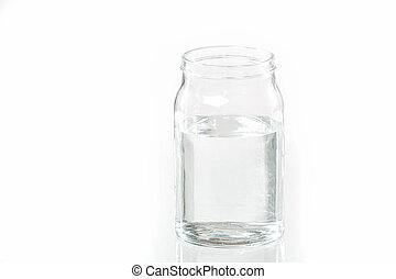 Glass jar with water