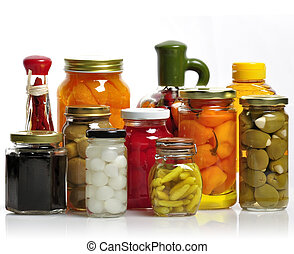 Glass Jars Of Preserved Food - Glass Jars Of Preserved...