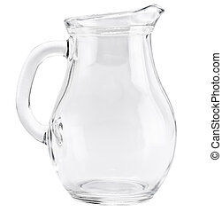 Glass jug isolated on a white background
