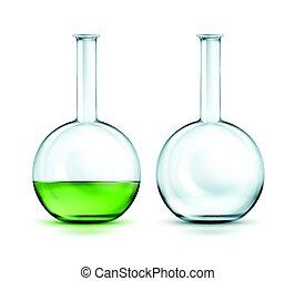 Glass laboratory flasks