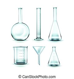 Glass laboratory flasks