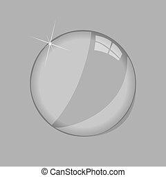 Glass lens illustration