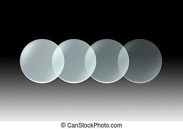 glass lens opacity black - Transparent glass lens on ...