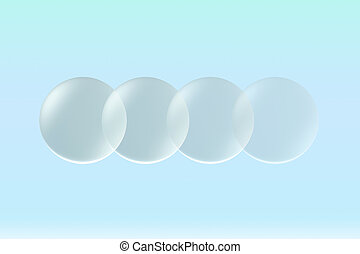 glass lens opacity - Transparent glass lens on background ...