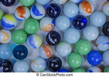 glass marbles background