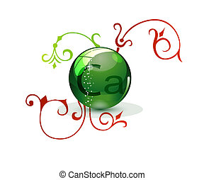 glass medic sign green color