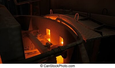 Glass melting furnace on the gassware production