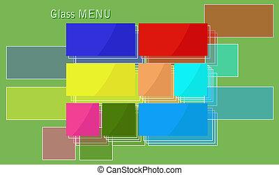 Glass menu.