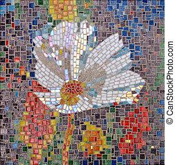 glass mosaic flower