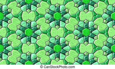Glass mosaic kaleidoscopic seamless - Glass mosaic...